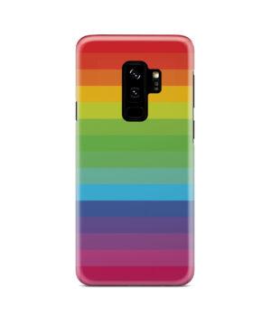 Rainbow Lines for Premium Samsung Galaxy S9 Plus Case