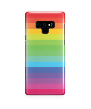 Rainbow Lines for Simple Samsung Galaxy Note 9 Case Cover