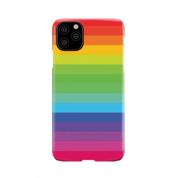 Rainbow Lines for Trendy iPhone 11 Pro Max Case Cover