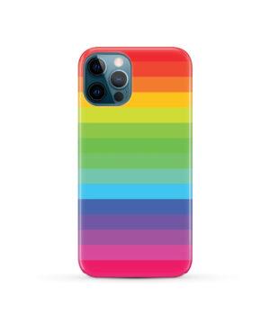 Rainbow Lines for Unique iPhone 12 Pro Case Cover