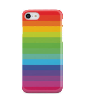 Rainbow Lines for Unique iPhone 7 Case