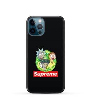 Rick and Morty Supreme for Simple iPhone 12 Pro Case