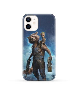 Rocket Racoon and Groot for Amazing iPhone 12 Case Cover