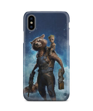 Rocket Racoon and Groot for Beautiful iPhone X / XS Case Cover
