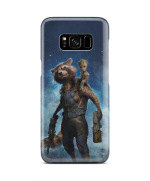 Rocket Racoon and Groot for Beautiful Samsung Galaxy S8 Case Cover