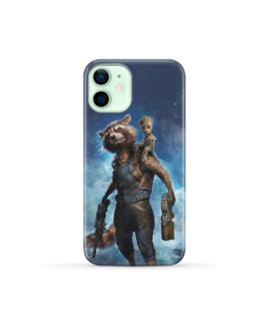 Rocket Racoon and Groot for Custom iPhone 12 Mini Case Cover