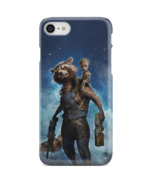 Rocket Racoon and Groot for Custom iPhone 7 Case Cover