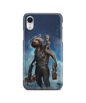 Rocket Racoon and Groot for Customized iPhone XR Case Cover