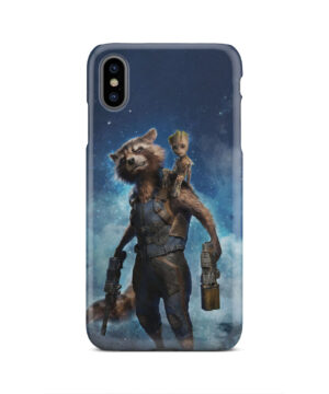 Rocket Racoon and Groot for Customized iPhone XS Max Case Cover