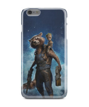 Rocket Racoon and Groot for Cute iPhone 6 Plus Case Cover