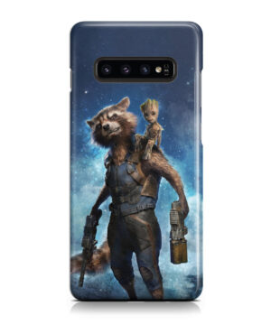 Rocket Racoon and Groot for Newest Samsung Galaxy S10 Case