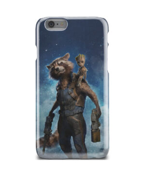Rocket Racoon and Groot for Personalised iPhone 6 Case