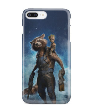Rocket Racoon and Groot for Personalised iPhone 8 Plus Case