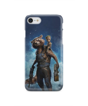 Rocket Racoon and Groot for Personalised iPhone SE 2020 Case