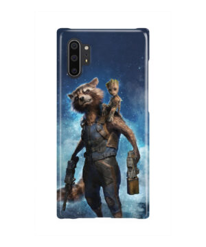 Rocket Racoon and Groot for Premium Samsung Galaxy Note 10 Plus Case Cover