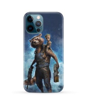 Rocket Racoon and Groot for Trendy iPhone 12 Pro Max Case Cover