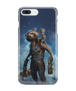 Rocket Racoon and Groot for Trendy iPhone 7 Plus Case