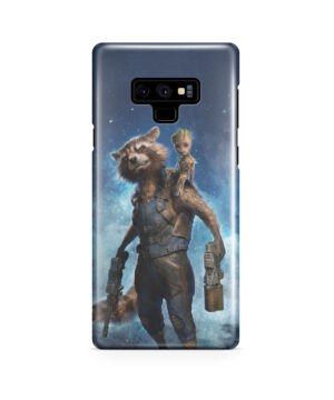 Rocket Racoon and Groot for Trendy Samsung Galaxy Note 9 Case
