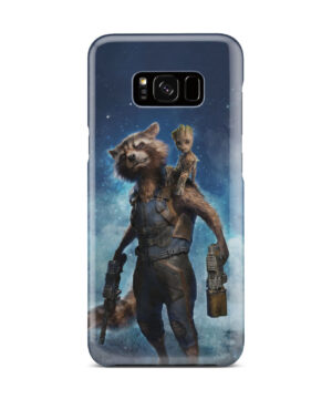 Rocket Racoon and Groot for Trendy Samsung Galaxy S8 Plus Case Cover