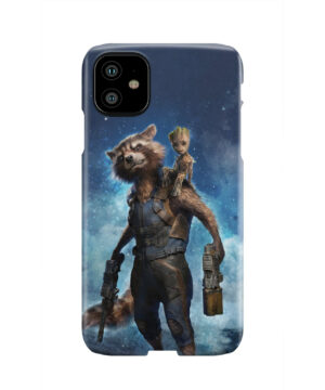Rocket Racoon and Groot for Unique iPhone 11 Case