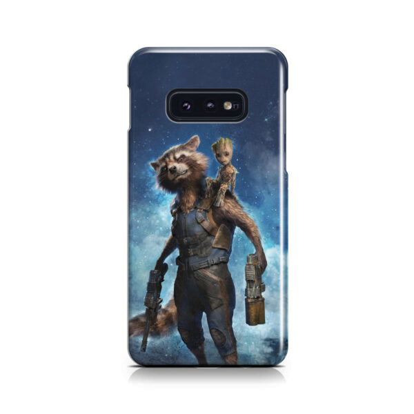 Rocket Racoon and Groot for Unique Samsung Galaxy S10e Case Cover