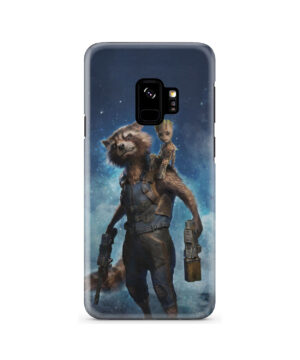 Rocket Racoon and Groot for Unique Samsung Galaxy S9 Case