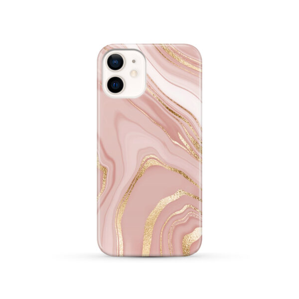 Rose Gold Marble for Personalised iPhone 12 Case