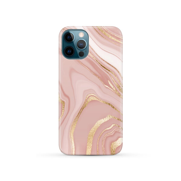 Rose Gold Marble for Personalised iPhone 12 Pro Case