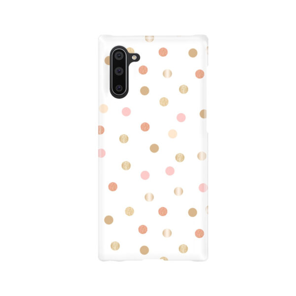 Rose Gold Polka Dots for Beautiful Samsung Galaxy Note 10 Case Cover