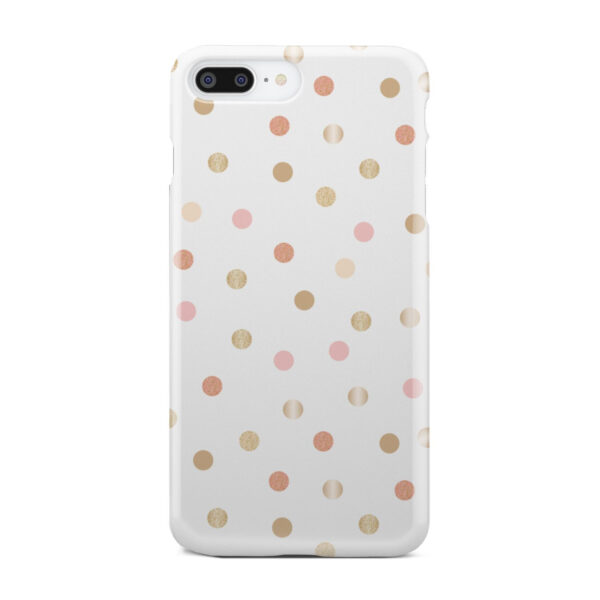 Rose Gold Polka Dots for Custom iPhone 8 Plus Case Cover