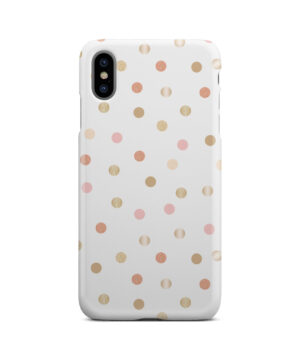 Rose Gold Polka Dots for Custom iPhone XS Max Case