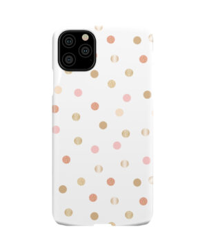 Rose Gold Polka Dots for Customized iPhone 11 Pro Max Case