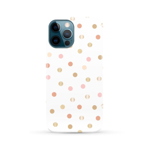 Rose Gold Polka Dots for Customized iPhone 12 Pro Max Case Cover