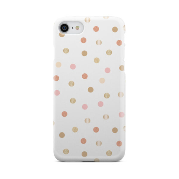 Rose Gold Polka Dots for Customized iPhone 7 Case Cover