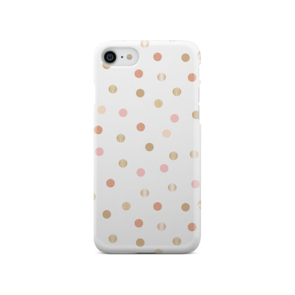 Rose Gold Polka Dots for Customized iPhone SE 2020 Case Cover