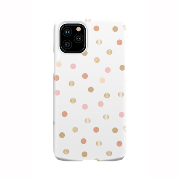 Rose Gold Polka Dots for Cute iPhone 11 Pro Case Cover