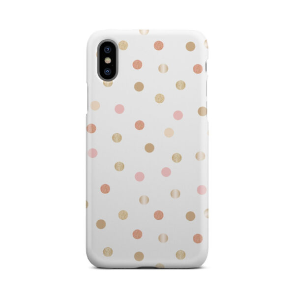 Rose Gold Polka Dots for Cute iPhone X / XS Case