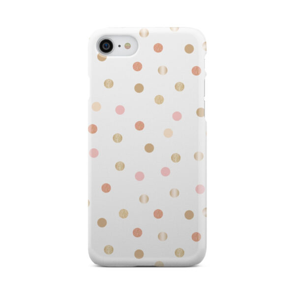 Rose Gold Polka Dots for Personalised iPhone 8 Case Cover
