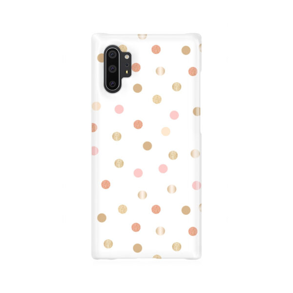 Rose Gold Polka Dots for Personalised Samsung Galaxy Note 10 Plus Case Cover
