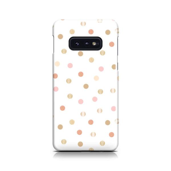 Rose Gold Polka Dots for Premium Samsung Galaxy S10e Case Cover