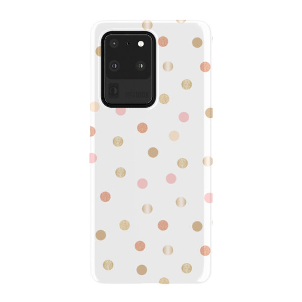 Rose Gold Polka Dots for Premium Samsung Galaxy S20 Ultra Case Cover