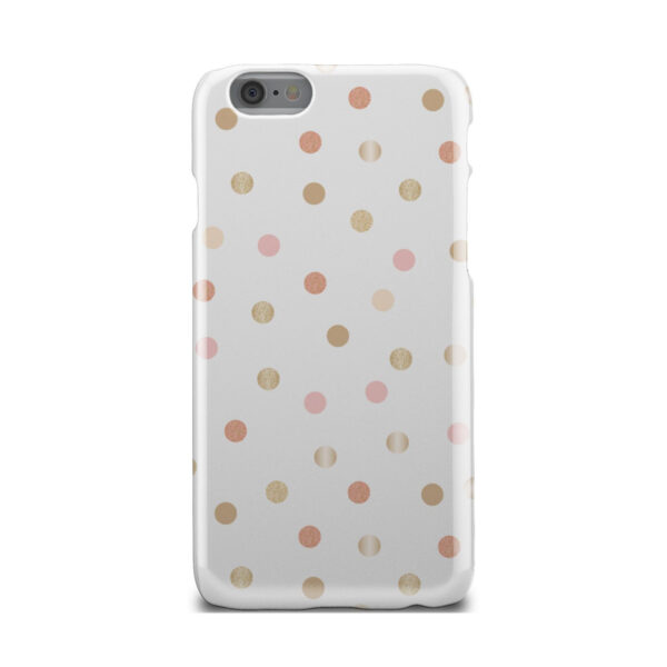 Rose Gold Polka Dots for Simple iPhone 6 Case Cover