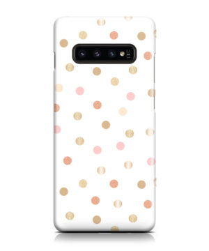 Rose Gold Polka Dots for Simple Samsung Galaxy S10 Case