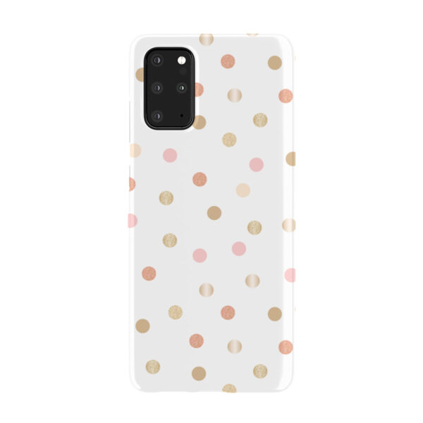 Rose Gold Polka Dots for Simple Samsung Galaxy S20 Plus Case Cover