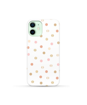 Rose Gold Polka Dots for Stylish iPhone 12 Mini Case Cover