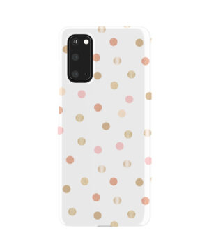Rose Gold Polka Dots for Trendy Samsung Galaxy S20 Case Cover
