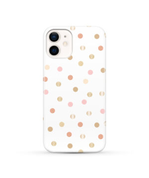 Rose Gold Polka Dots for Unique iPhone 12 Case