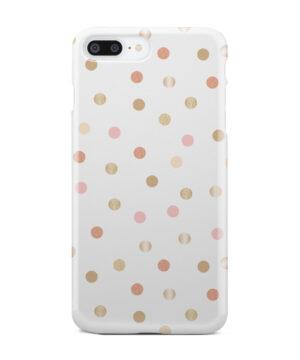 Rose Gold Polka Dots for Unique iPhone 7 Plus Case