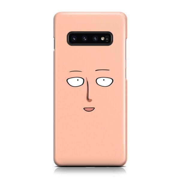 Saitama One Punch Man Face for Premium Samsung Galaxy S10 Case Cover