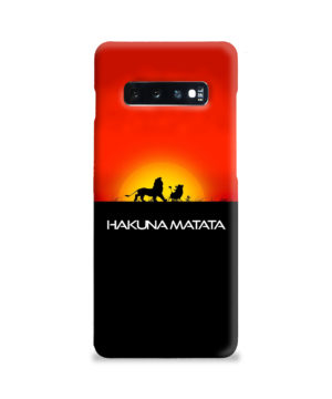 Simba Hakuna Matata for Premium Samsung Galaxy S10 Plus Case